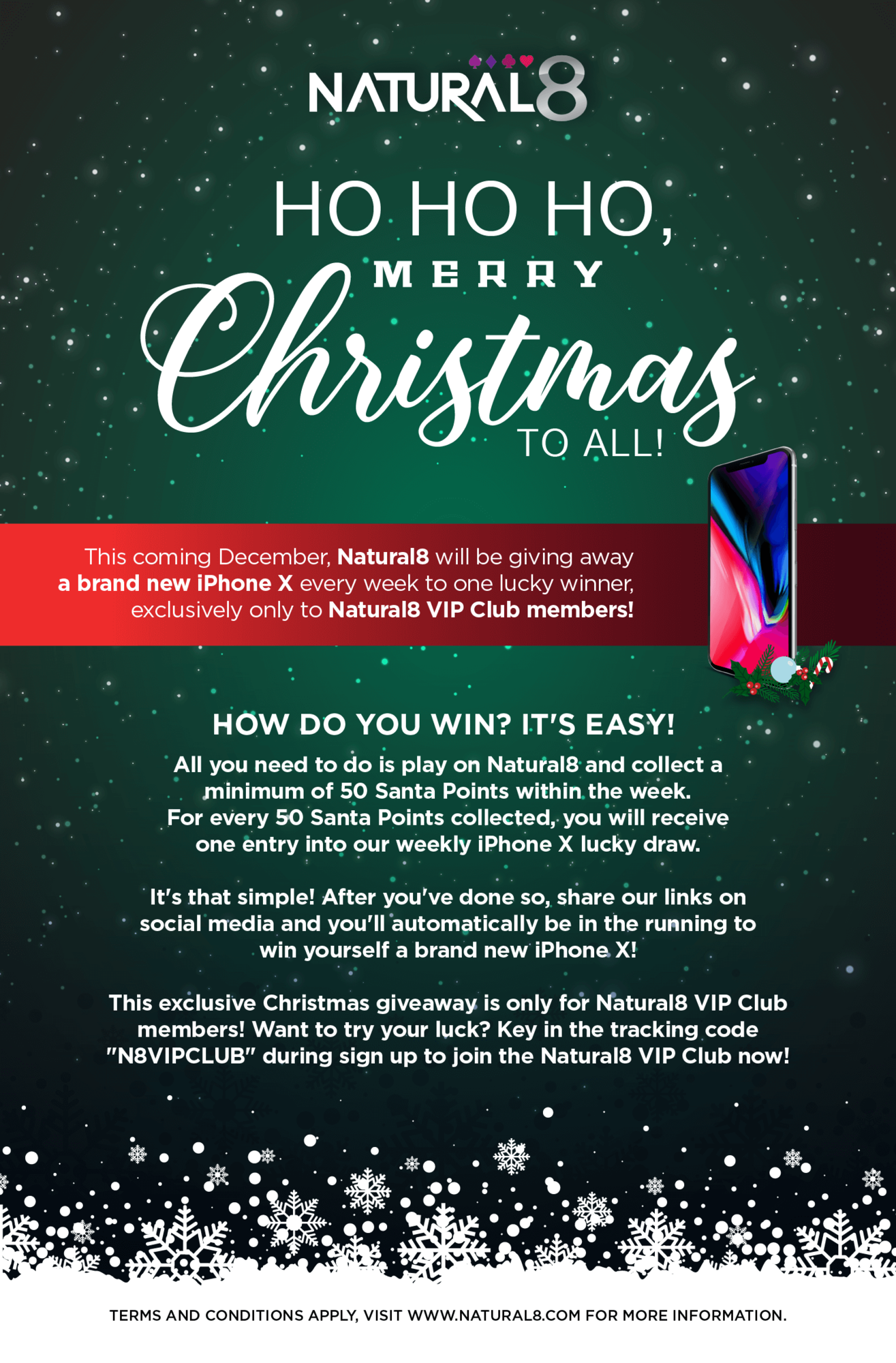 Christmas Giveaway Flyer.Natural8 Latest News Natural8 Vip Club Iphone X